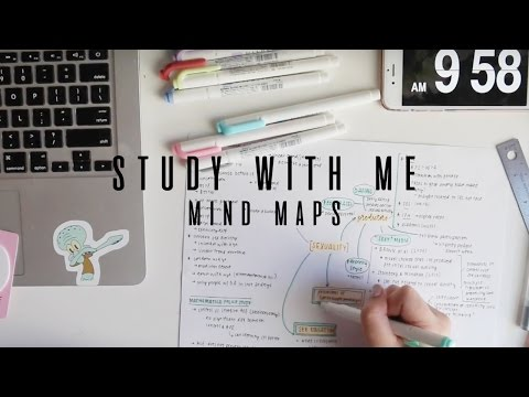 study with me: mind maps