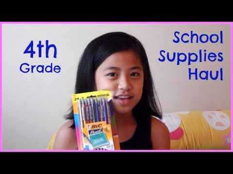 Fourth Grade School Supplies Haul   Hanul