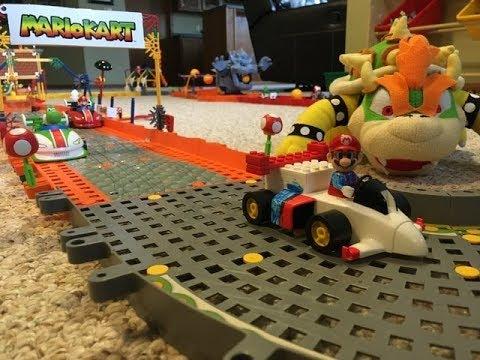 Bowzer S Castle 4 4 Mushroom Cup Mario Kart K Nex Custom Track
