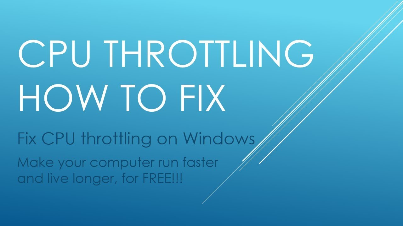 CPU Throttling Fix - Computer Tutorial 1
