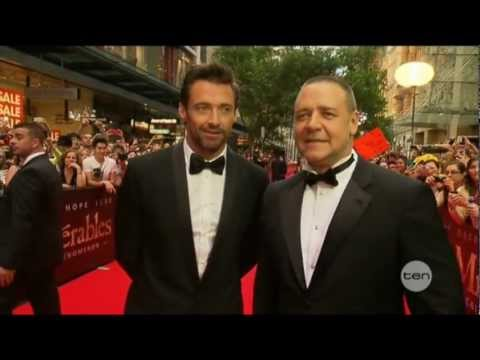 Hugh Jackman & Russell Crowe interview on The Project - Les Miserables