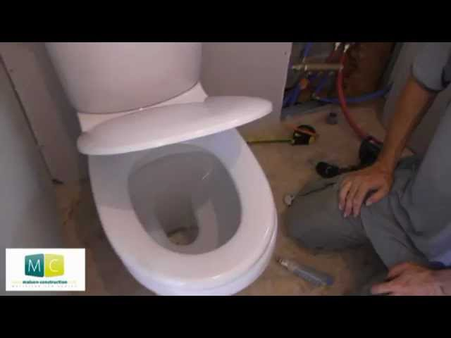 Pose Wc Installation Toilettes Avec Chasse D Eau Laying A Toilet Youtube