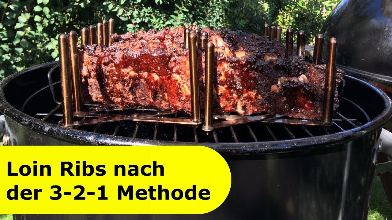 Spareribs 321 Metode Gasgrill : 009 baby back ribs nach der 3 2 1 methode im water smoker