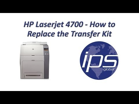 HP 4700 - How to Replace the Transfer Kit Updated
