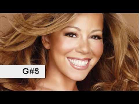 (HD) Mariah Carey Vocal Range - Studio: E2-G7 (1990-2010)
