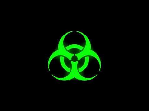 Glowing Bio-hazard Symbol (Green)