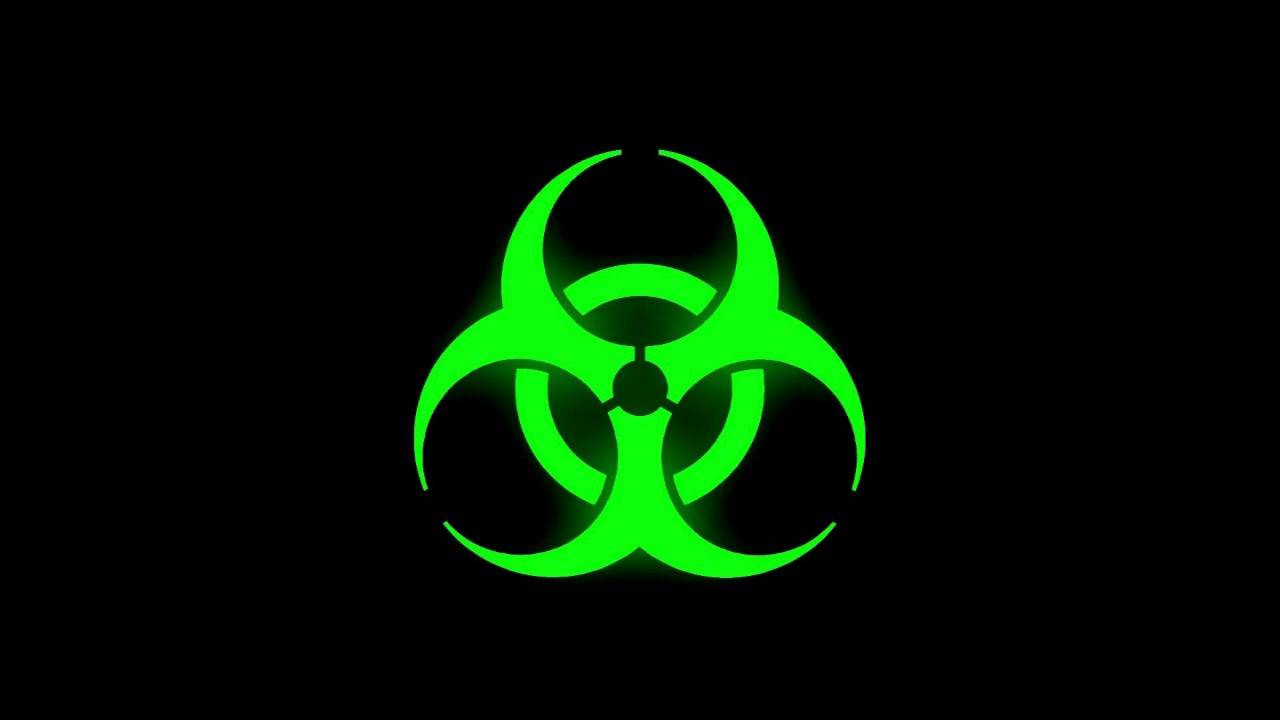 Glowing Bio Hazard Symbol Green Youtube