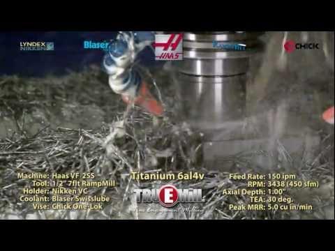 TRUEMill cutting Titanium 6Al4V on Haas VF-2SS