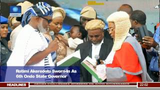 News@10: Rotimi Akeredolu Sworn-In As 6th Governor 24/02/17 Pt. 1