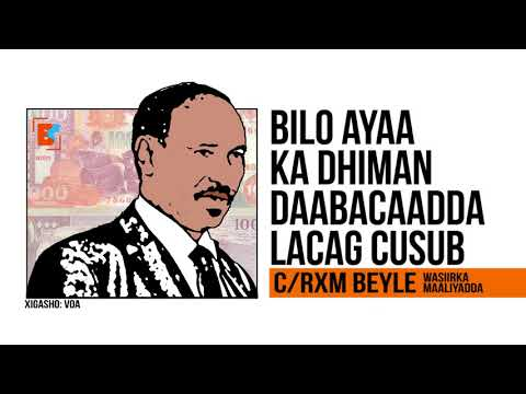 SOMALIA OOSOO DAABACAN DOONTA LACAG CUSUB, LAGANA FIKIRAYO IN SHILLING #SOMALI LA BEDELO