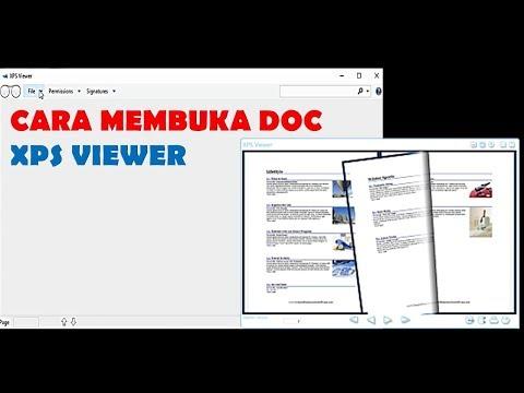 CARA MEMBUKA DOKUMEN XPS VIEWER DI WINDOWS
