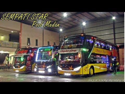 Tempatnya Bus Keren. Pool Sempati Star. Aktivitas Bus Sempati Star di Medan