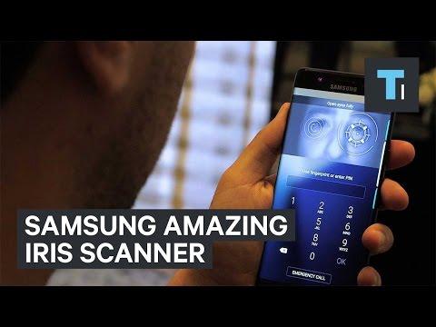 Samsung Galaxy Note 7 iris scanner