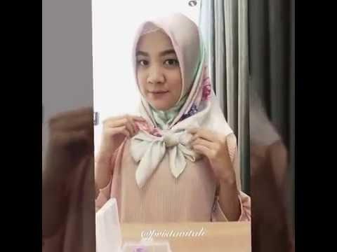 Square hijab tutorial (silk)