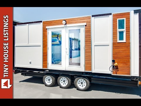 lovely shipping container home on wheels youtube. Black Bedroom Furniture Sets. Home Design Ideas