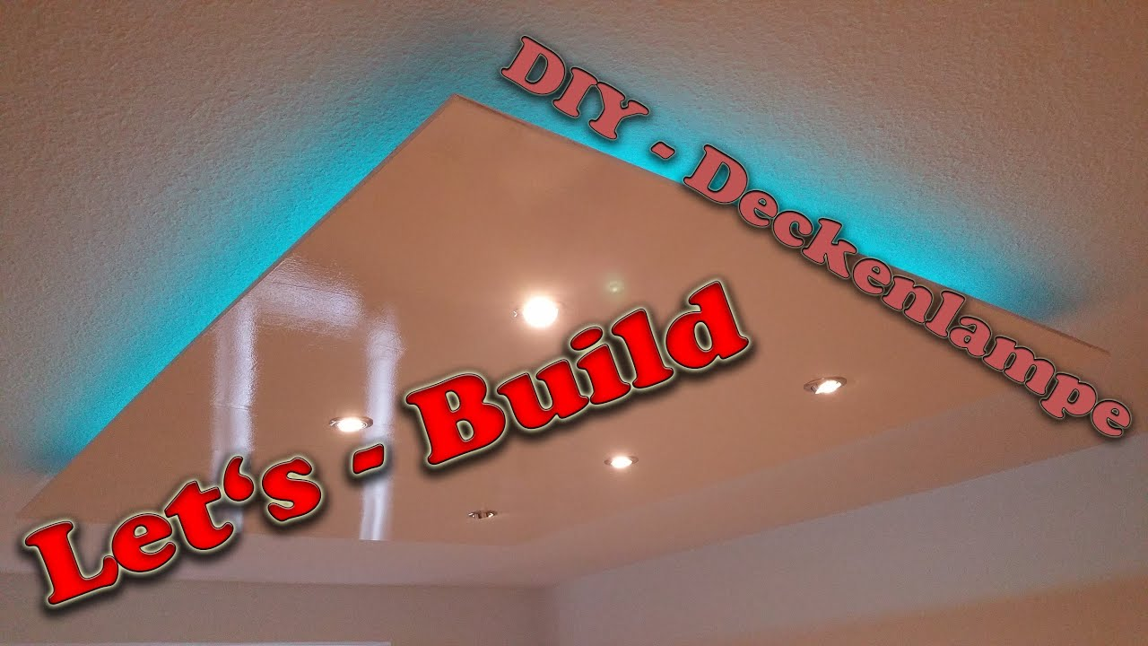 let 39 s build diy deckenlampe deckensegel mit indirekter beleuchtung und philips hue youtube. Black Bedroom Furniture Sets. Home Design Ideas