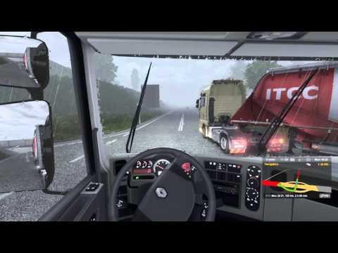 Euro Truck Simulator 2: Praha - Leipzig (Heavy Rain)