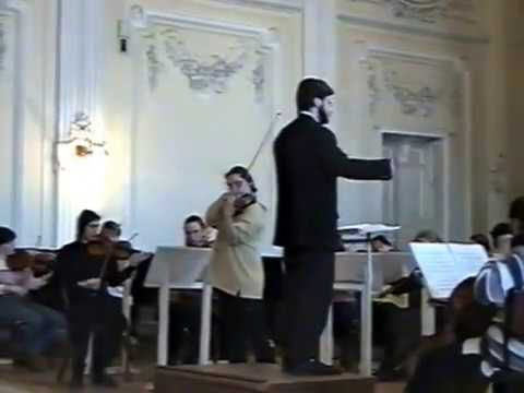Anita Mishoukova and conductors in St Petersburg