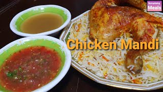 Chicken Mandi with Soup and Tomato Chutney  Scrummy Meals