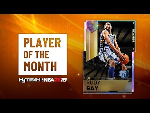 NEW PLAYER OF THE MONTH RUDY IS INSANE NBA 2K19 MYTEAM!