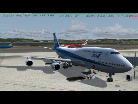 [P3Dv4] PEK - KIX   Beijing - Kansai   Full Flight   PMDG 747-400