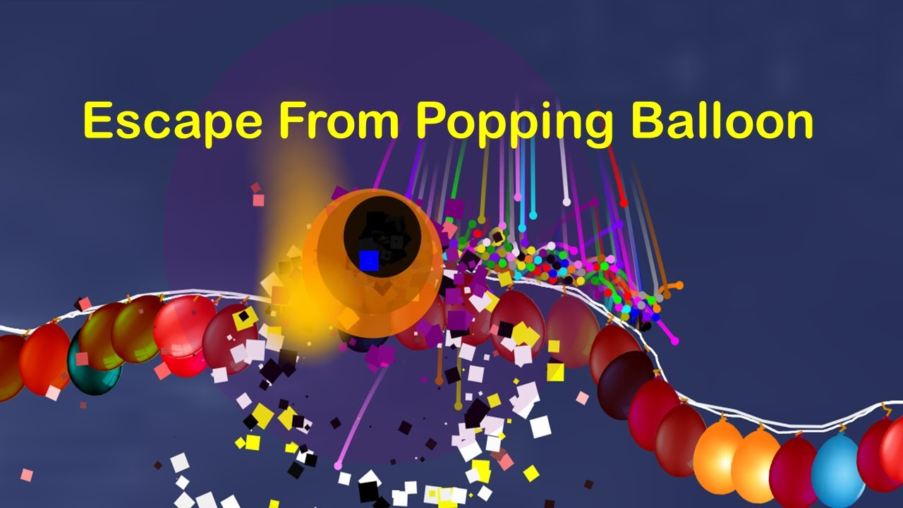 marble race : Escape From Popping Balloon - Survival In Algodoo Marble Race