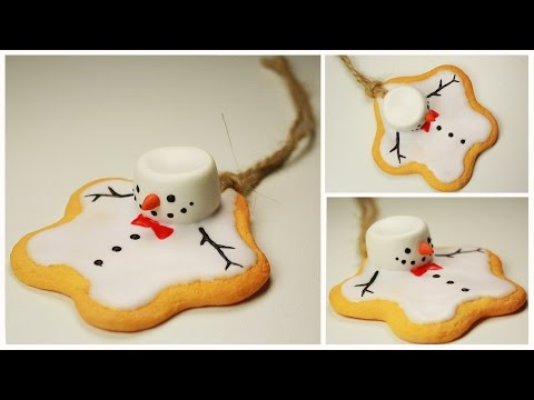 Polymer Clay Melting Snowman Co Ornament Tutorial