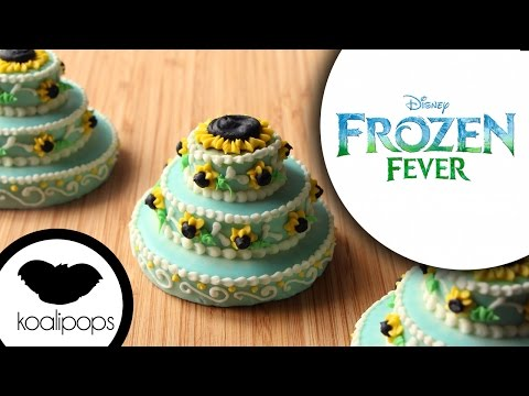 Frozen Fever Princess Anna Birthday Cake Cookies Elsa and Anna