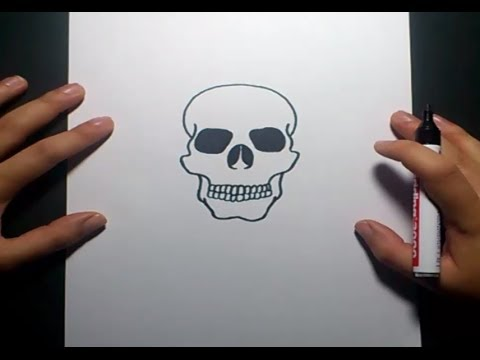 Como dibujar una calavera paso a paso 6  How to draw a skull 6