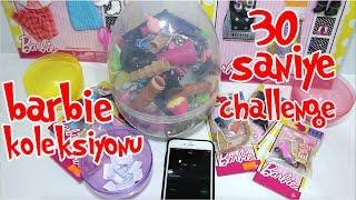 Barbie Koleksiyonu 30 Saniye Challenge!! ÖDÜLLÜ Barbie Eşya Kapmaca Oyunu!! Bidünya Oyuncak