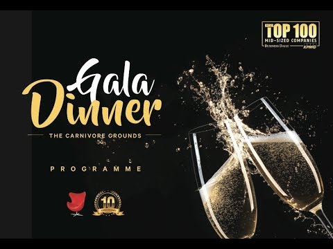 LIVE: Top 100 mid-sized companies gala diner