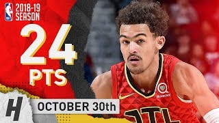 Trae Young Full Highlights Hawks vs Cavaliers 2018.10.30 - 24 Points!