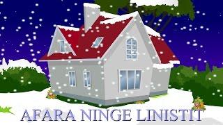 afara ninge linistit   colinde de craciun   outside is slowly snowing in romanian