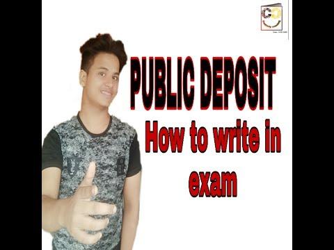 What is public deposit