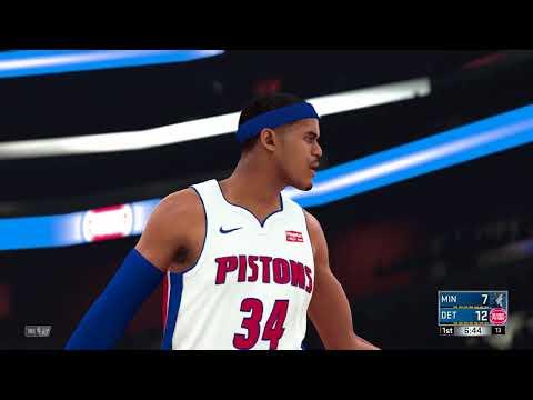 NBA 2K18 PS4 2017 2918 Season Game Minnesota Timberwolves vs Detroit Pistons