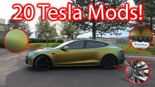 20 Tesla Model S Modifications!