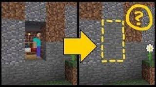Простой способ спрятать дверь от грифера! Простые механизмы майнкрафт. Без модов minecraft.