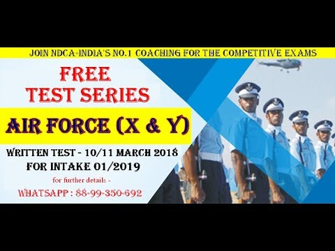 Free Test Series of Group X & Y of Indian Air Force