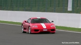 Ferrari 360 Challenge Stradale SOUNDS! Loud Downshifts & Accelerations!