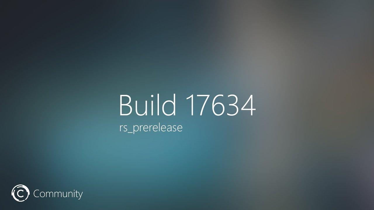 Windows  Redstone  V Build
