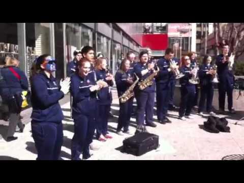 UConn Fight Song Outside Madison Square Garden