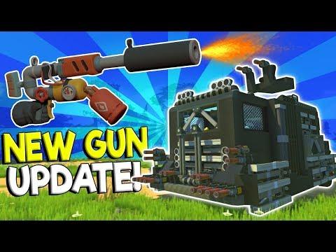 NEW SPUD GUN & DESTRUCTION UPDATE! - Scrap Mechanic Gameplay - Spud Gun New Update