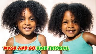 WASH AND GO HAIR TUTORIAL