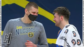 Luka Doncic & Nikola Jokic Share a Moment After the Game - Mavericks vs Nuggets | March 13, 2021