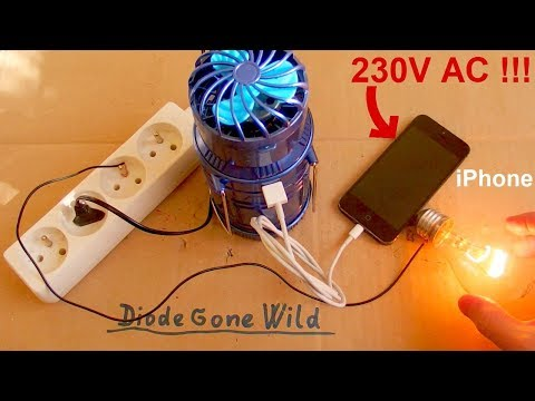 Deadly Lantern Fan - There's 230V AC in my iPhone !!!