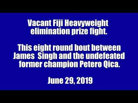 James Singh Boxer Vs Petero Gica Highlights 🇫🇯