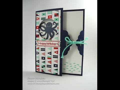 Maritime Scallop Tag Topper Fold Card