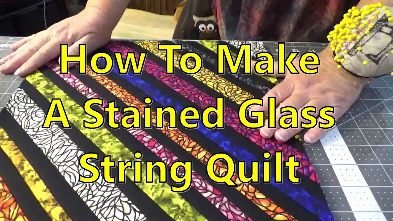 Stained Glass Window String Quilt Youtube