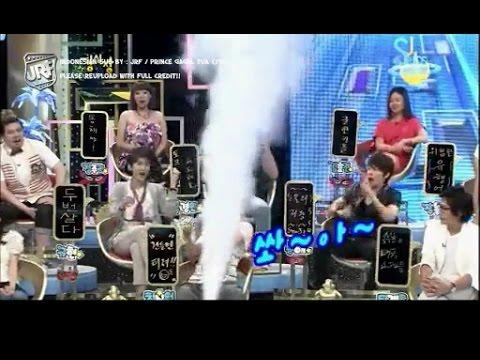(INA SUB) SUPER FUNNY - Siwon Story at Strong Heart ep 34 (Bonus Wind Bomb Siwon, Donghae)