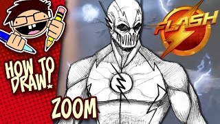 How to Draw ZOOM (THE FLASH TV SERIES) Easy Step-by-Step Tutorial